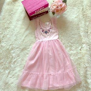 H & M Girls Princess Pink Dress Size 6-8 S/M